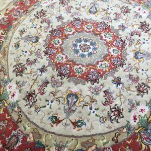 فرش دستباف دایره 2*2 طرح علیا رج30